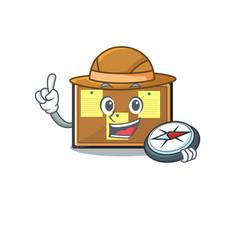 Explorer bulletin board isolated in mascot vector
