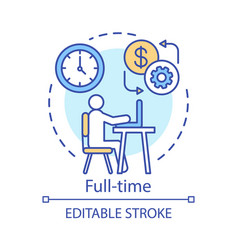 full-time concept icon employment job recruitment vector image