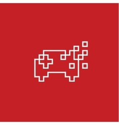 Game joystick Pixel flat style vector image