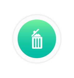 Garbage icon trash bin icon vector