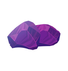 gems in deep purple color treasure collection vector image