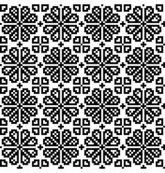 Geometrical flower seamless pattern vector