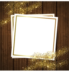 golden shining background vector image