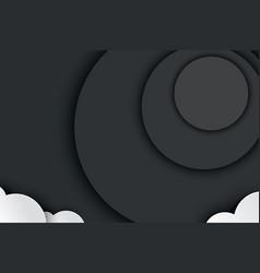 halloween black paper in dark background cloud vector image