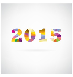 happy new year 2015 text design vector image