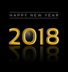 happy new year 2018 gold vector image