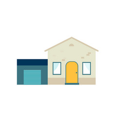 house with garage or storage place icon flat vector image