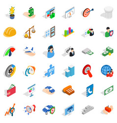 Inspiration icons set isometric style vector
