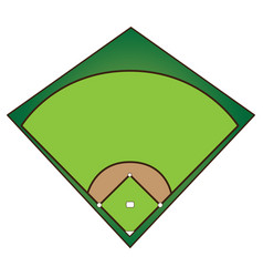 isolated baseball field vector image