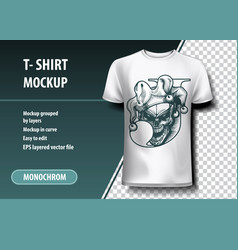 Joker t-shirt template fully editable vector