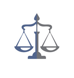 Law firm and justice advocate logo and icon vector
