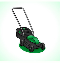 Lawn mower drawing isolated vector