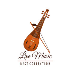 Live music concert festival instrument icon vector