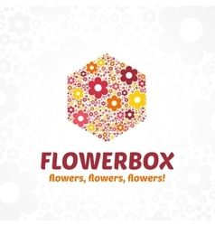Logo flower box vector
