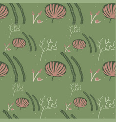 lovely magic forest seamless pattern vector image