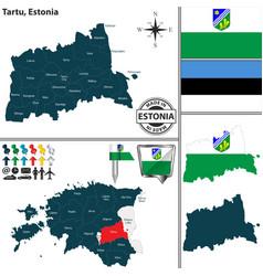 Map of tartu estonia vector