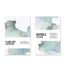 Marble wedding cover background set marble tender vector