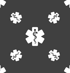 Medicine sign Seamless pattern on a gray vector image