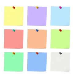 Nine sticky notes vector