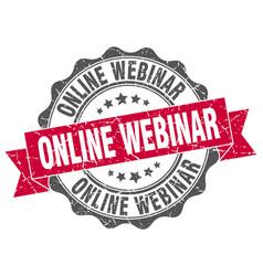 online webinar stamp sign seal vector image