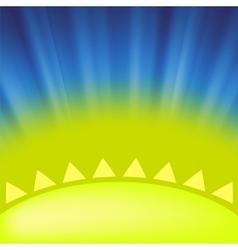 Part of Yellow Sun vector image