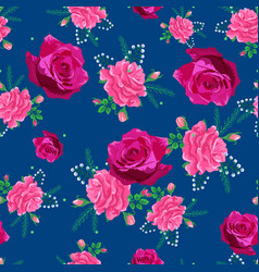 Rose cute seamless pattern00-01 vector