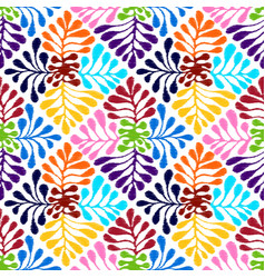 Seamless mexican style floral pattern vector