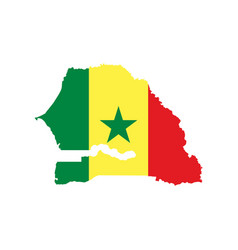 senegal map and flag vector image