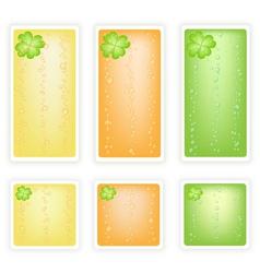 Set of Four Leaf Clovers Banner vector image