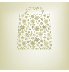 Snowflakes bag template EPS 8 vector image