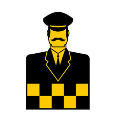 taxi driver icon cabbie sign cabdriver symbol vector image