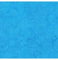 Technology seamless background - techno endless vector image vector image
