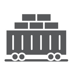 train cargo glyph icon transport and logistics vector image