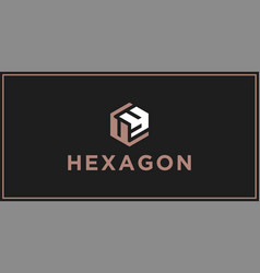uy hexagon logo design inspiration vector image
