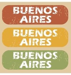 Vintage Buenos Aires stamp set vector