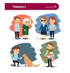Volunteers care vector image