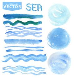 Watercolor seaocean vector