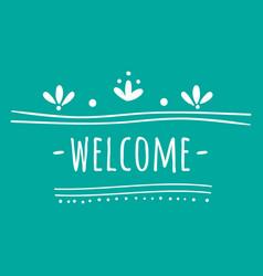 Wedding welcome image vector
