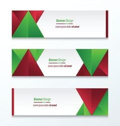 abstract banner design christmas styles vector image vector image