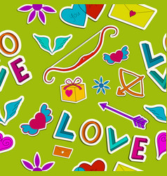 amorous seamless pattern vector image vector image
