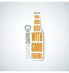 Beer bottle design concept background vector