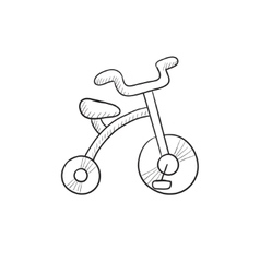 Child bike sketch icon vector image vector image