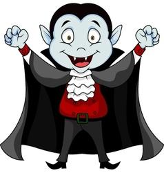 Funny vampire cartoon vector