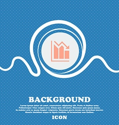 histogram icon sign Blue and white abstract vector image vector image