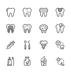 tooth and dental healthcare and medical icons vector image