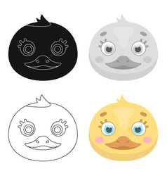 duck muzzle icon in cartoon style isolated on vector image vector image
