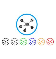 iota mining pool rounded icon vector image