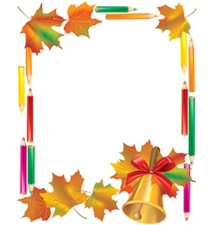 School Autumn Frame vector image vector image