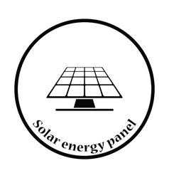 Solar energy panel icon vector image