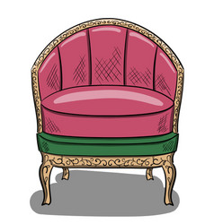 armchair in the style of art nouveau with lilac vector image